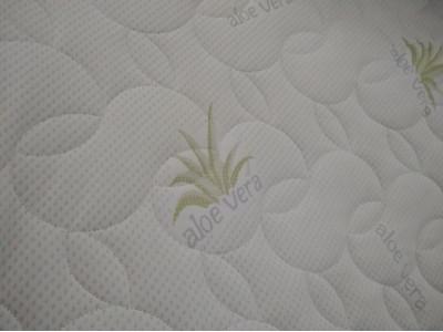 Матрасная ткань трикотаж Алоэ Вера (240 г/м) стёганая на 100 синт
